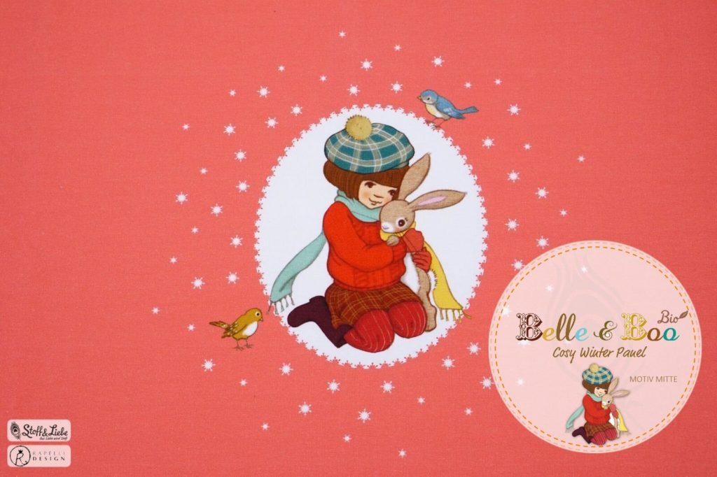Belle und Boo kuscheln French Terry Bild für Blogbeitrag