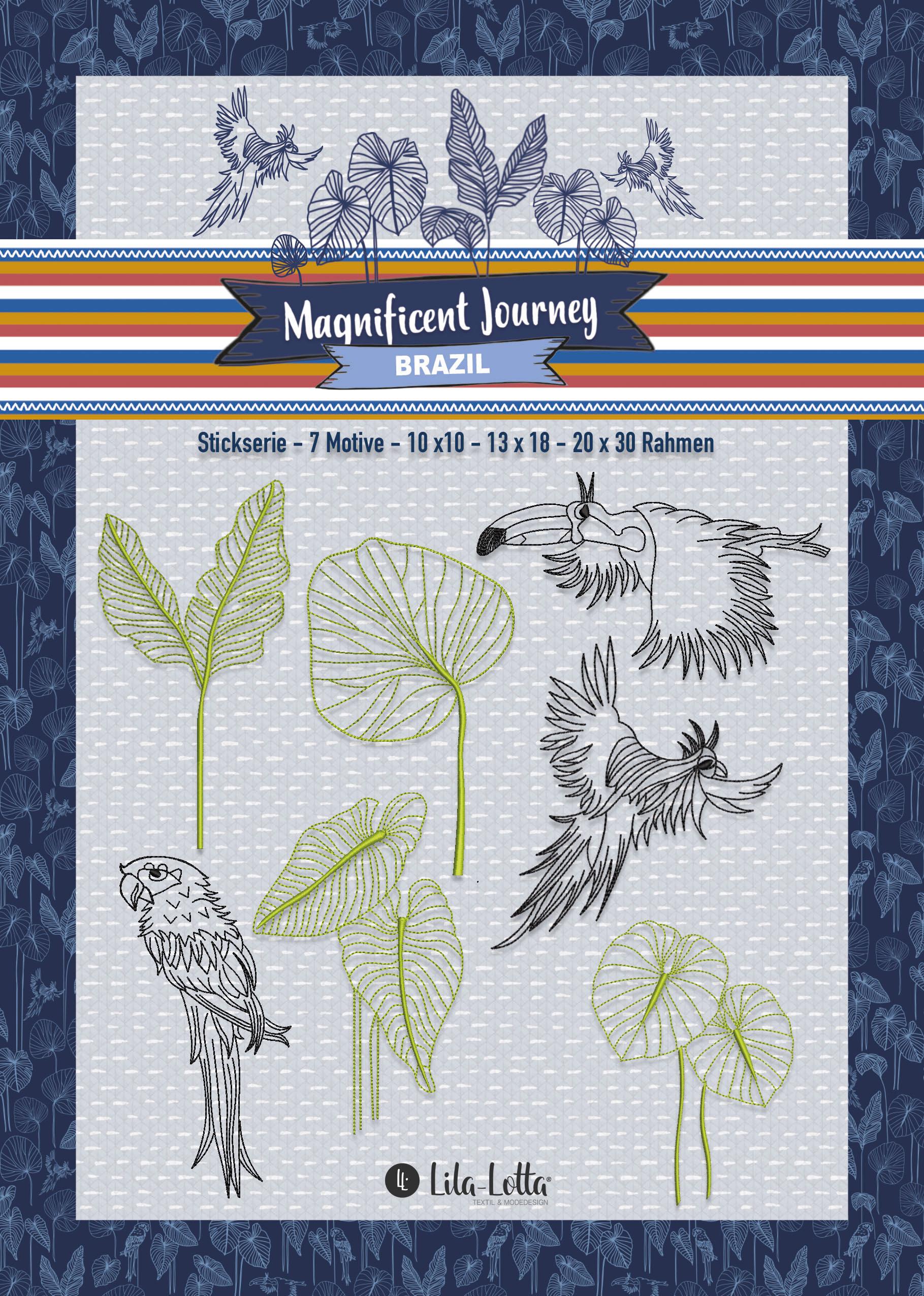 Stickdatei Blätter und Vögel von Kasia für unseren Blogbeitrag Interview mit Kasia